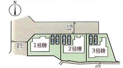 【区画図】小野市垂井町 3号棟 ~新築一戸建て~