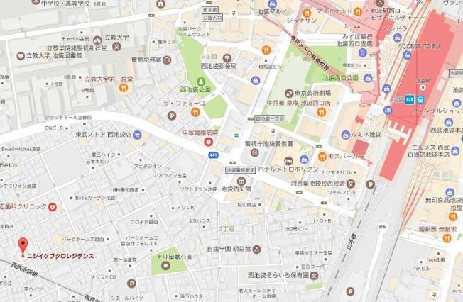 【地図】西池袋レジデンス