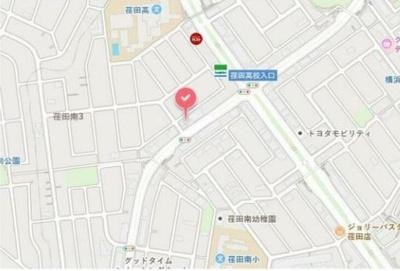 【地図】都筑区荏田南3丁目 1階路面店舗