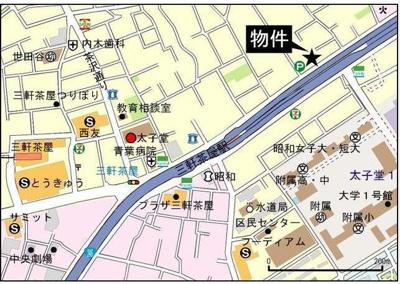 【地図】F-FLAT三軒茶屋