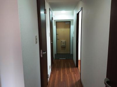 リビングから玄関へも全面フローリングで統一されています