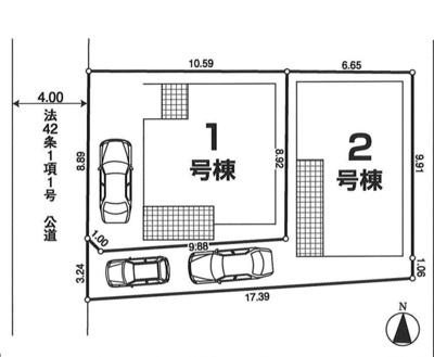 【全2棟・2号棟】土地面積102.00㎡(30.85坪)