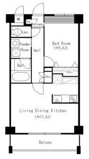 「居室とキッチンが別々の1LDKです。」