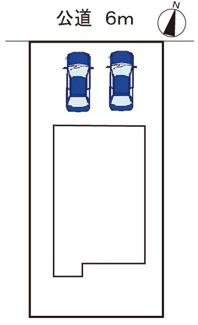駐車並列2台可能です。