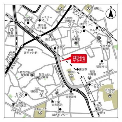 【地図】ロネスタR文京護国寺