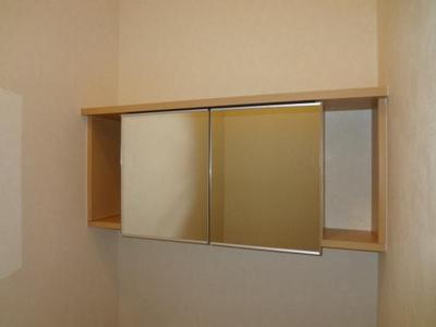 トイレ鏡付収納棚
