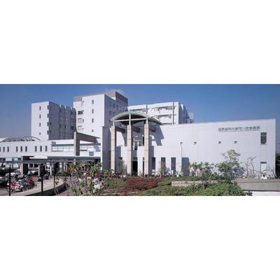 病院「東京医科大学病院まで819m」東京医科大学病院