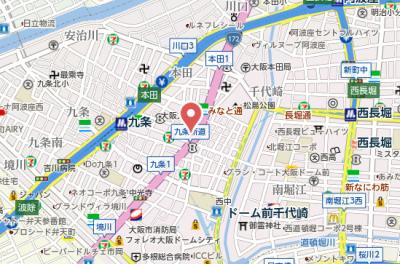 【地図】CITY SPIRE 九条Ⅲ