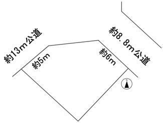 【区画図】57200 岐阜市岩田東土地