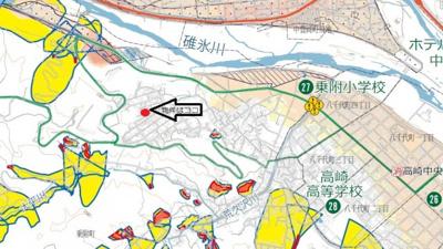 【地図】高崎市乗附町売地