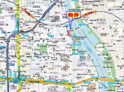 【地図】ラナップスクエア天満プライム