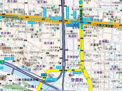 【地図】リーガル西天満3