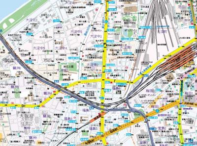 【地図】ランドマークシティ北梅田