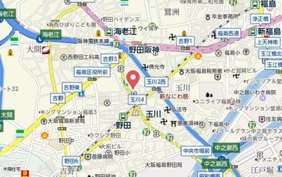 【地図】ハイアットコート薮野