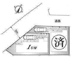 【区画図】練馬区東大泉2丁目 新築戸建 1号棟 5680万円