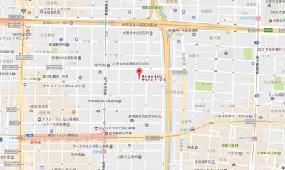 【地図】グラン心斎橋EAST