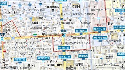【地図】ステージファースト菊川アジールコート(ステージファーストキクカワアジールコート)