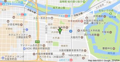 【地図】ラピス天満橋