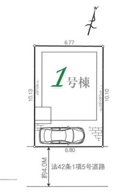 【区画図】所沢市花園4丁目 全1棟