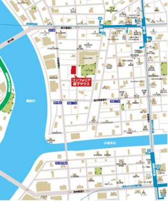 【地図】コンフォリア森下サウス