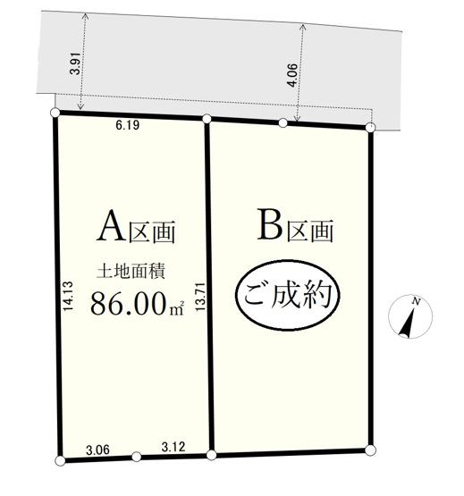 土地面積86m2  三田線「板橋区役所前」駅より徒歩8分 全2区画の整形地 ご好評につき最終1区画になります