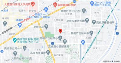 【地図】ルネ高槻