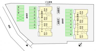 【区画図】クリーンシャトー富士見第一