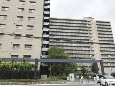 外観の写真です♪ 総階数15階建ての分譲マンションですよ♪ 周辺1号棟から5号棟までございます♪