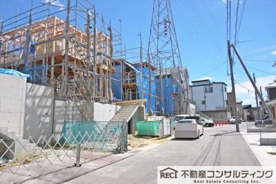 【前面道路含む現地写真】垂水区名谷町 新築戸建 3号棟
