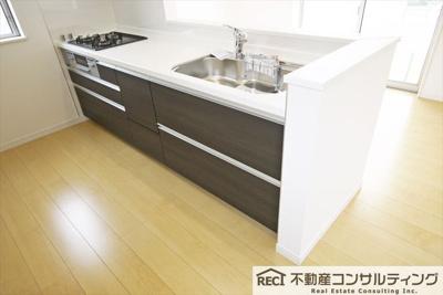 【キッチン】西区狩場台4丁目 新築戸建