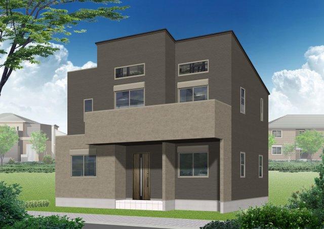 【外観パース】北区上中里3丁目・新築一戸建て