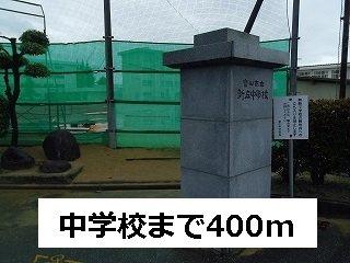 新庄中学校まで400m