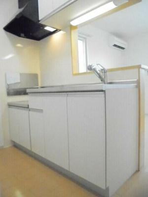 ガスコンロ設置可能なカウンターキッチン
