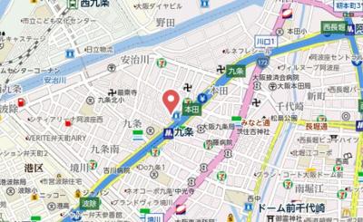 【地図】エスリード九条スタシオン