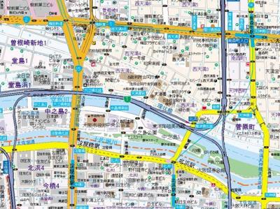 【地図】エステムプラザ梅田EAST