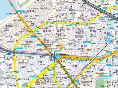 【地図】エスリード福島ブレイブ