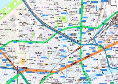 【地図】エスリード梅田西