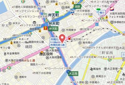 【地図】エスリード弁天町南
