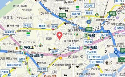 【地図】エスリード大阪梅田WEST