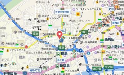 【地図】エスポルテ福島