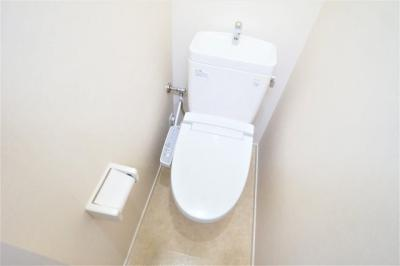 コンパクトで使いやすいトイレです※別部屋の写真です