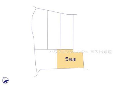 【区画図】名古屋市南区元鳴尾町139−2【仲介手数料無料】新築一戸建て 5号棟