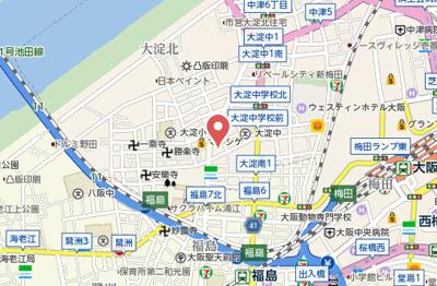 【地図】GRAND STEADY新梅田