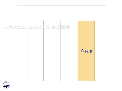 【区画図】名古屋市港区大西1丁目46【仲介料無料】新築一戸建て