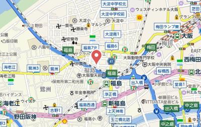 【地図】フォルテ福島