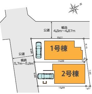 【区画図】練馬区練馬2丁目 新築戸建 2号棟 8190万円