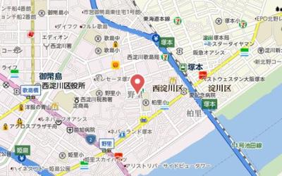 【地図】フジパレス塚本駅西Ⅰ番館