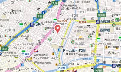 【地図】ファステート大阪ドームシティ