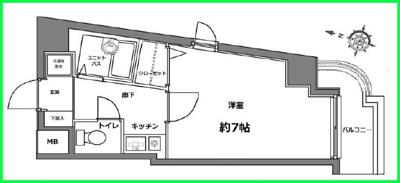【区画図】ヴェルステージ高田馬場