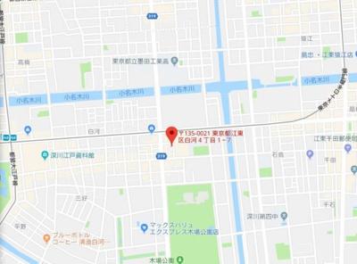 【地図】メゾンブランシェⅡ